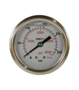 MANOMETRE DIAM. 63MM 0-400 BAR FIXATION AXIAL 1/4