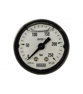 MANOMETRE DIAM. 40MM 0-250 BAR FIXATION AXIAL 1/8