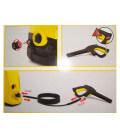Poignee + flexible karcher quick coupling