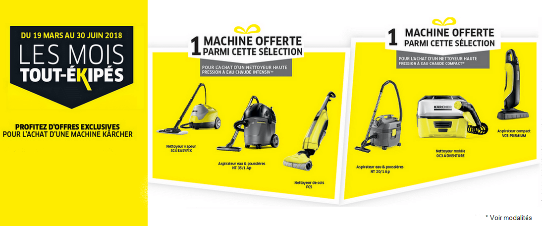 une machine karcher offerte