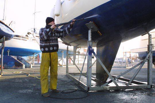 nettoyage coque de bateau