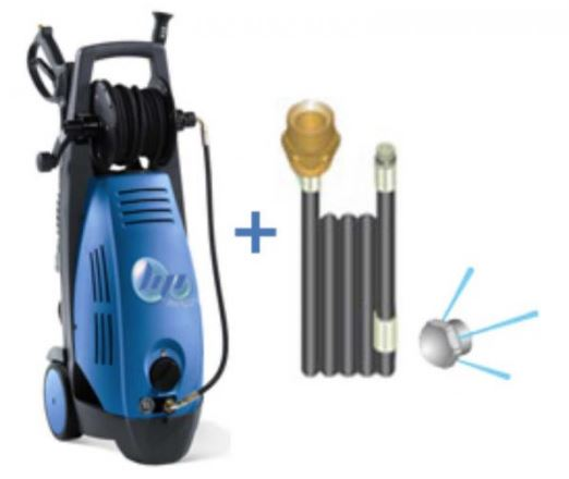 Pack nettoyeur haute pression avec ensemble de canalisation